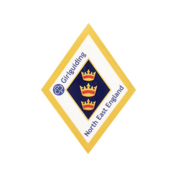 Region Diamond Badge Car Sticker